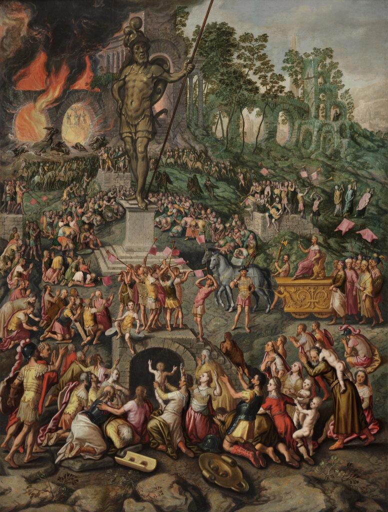Pieter Aertsen: los tres hebreos en el horno de fuego