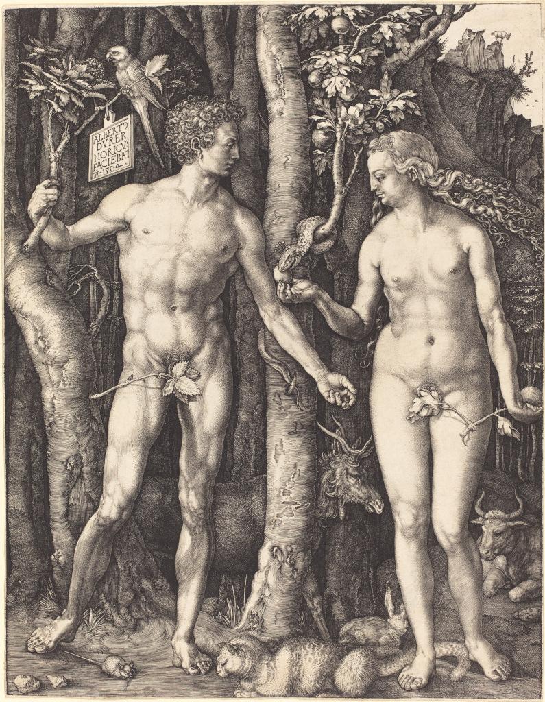 Alberto Durero: Adán y Eva (1504)