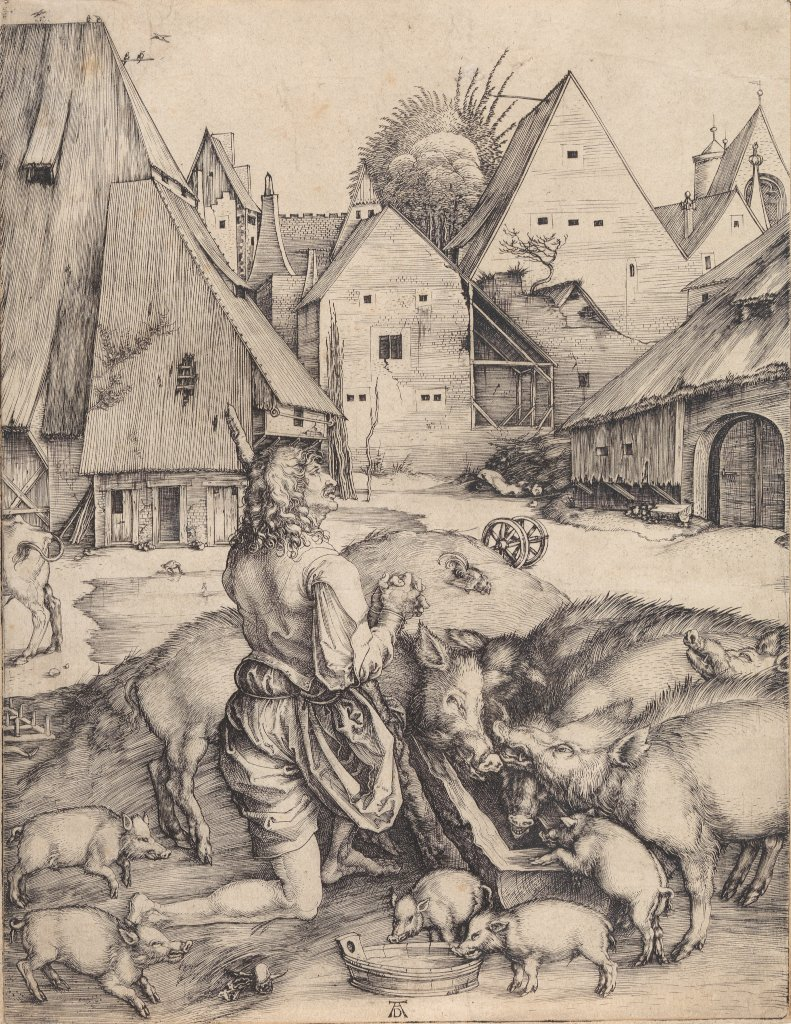 Albrecht Dürer: The Prodigal Son among the Pigs