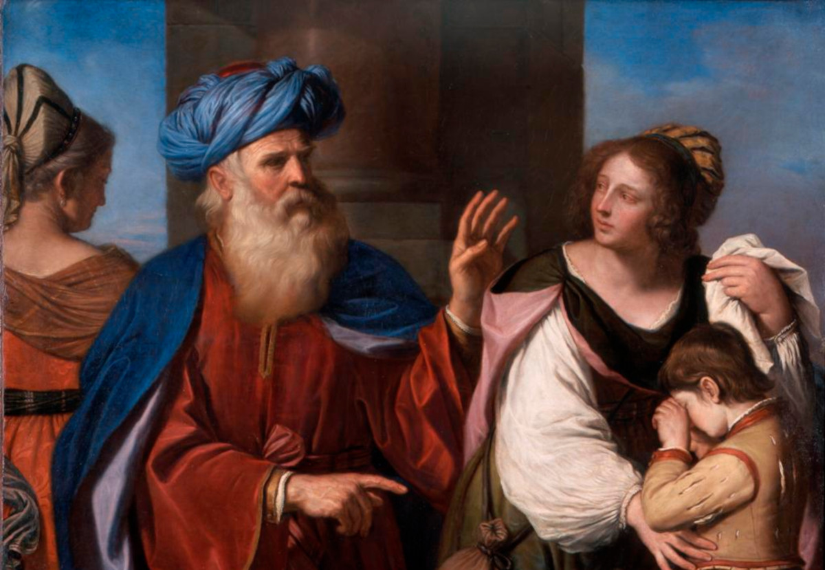 Il Guercino (Giovanni Francesco Barbieri): Abraham Casting Out ...