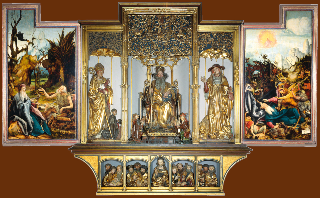 Grunewald Isenheim Altarpiece The Third View  Isenheim altar