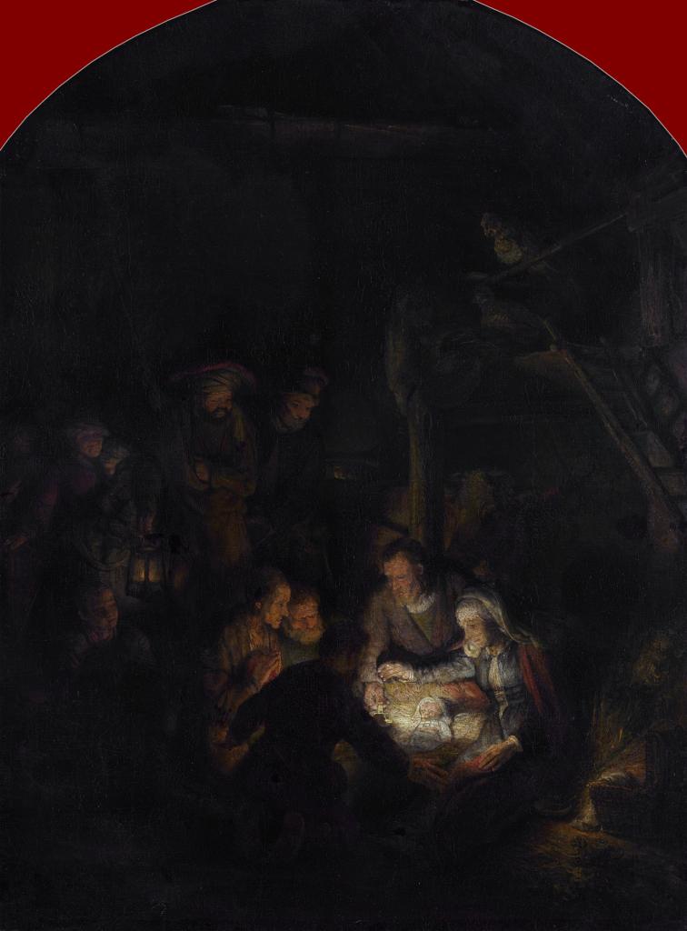 Rembrandt Harmensz. van Rijn: The Adoration of the Shepherds (1646 [1])