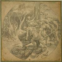 Pieter Aertsen: The destruction of Baal's altar