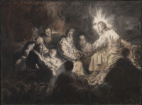 Rembrandt Harmensz. van Rijn: Jesus among his Students