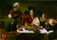 Caravaggio: Supper at Emmaus (1601)