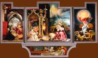 Matthias Gr�newald: Isenheim Altar - opened, 1