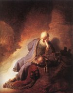 Rembrandt Harmensz. van Rijn: Jeremiah Lamenting the Destruction of Jerusalem