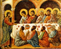 Duccio di Buoninsegna: The Appearance to the Apostles