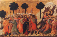 Duccio di Buoninsegna: Jesus Captured (detail)
