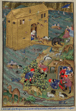 Master of the Munich Golden Legend: The Animals Leave the Ark