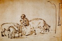 Rembrandt Harmensz. van Rijn: The Prodigal Son among the Pigs