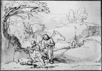 Rembrandt Harmensz. van Rijn: Tobias and the Angel at the River Tigris