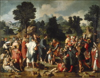 Lucas van Leyden: The Healing of the Blind of Jericho