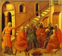 Duccio di Buoninsegna: Peter Denying Christ
