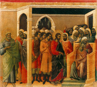 Duccio di Buoninsegna: Christ before Caiaphas