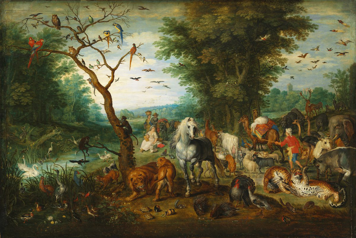 Jan Brueghel The Elder The Animals Board Noahs Ark