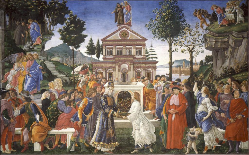 Botticelli Sandro Filipepi The Temptation Of Christ