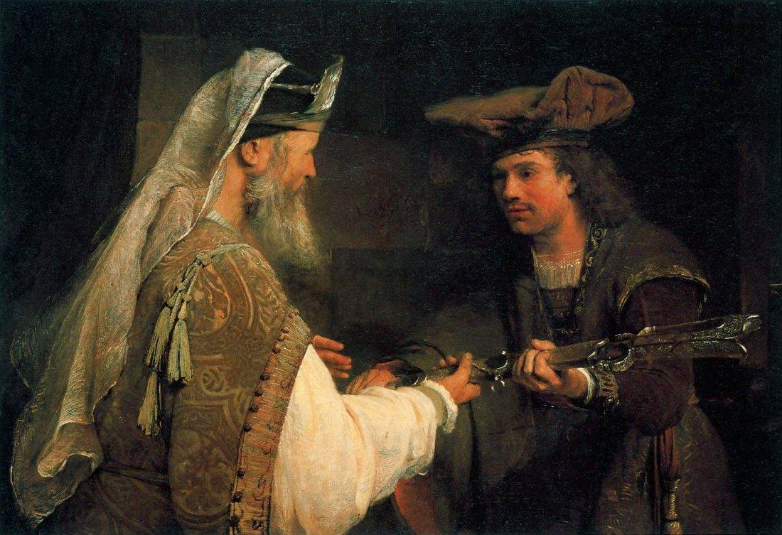 Arent De Gelder Ahimelech Giving Goliath S Sword To David