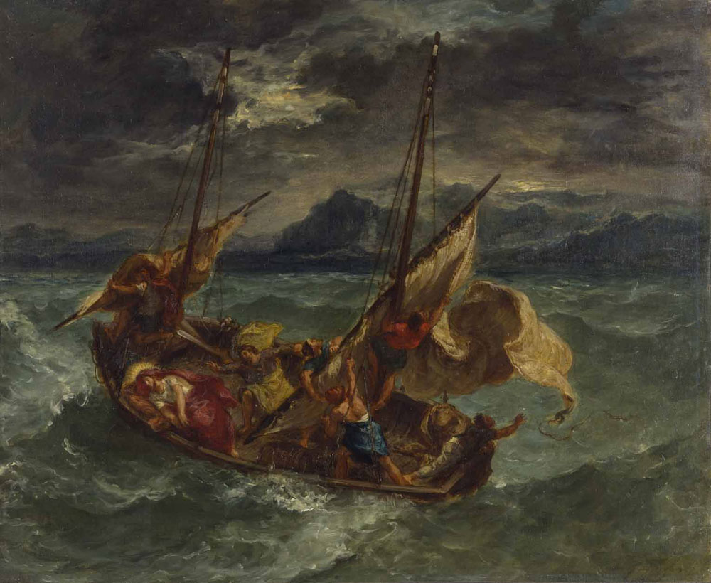 Eugne delacroix the storm on the sea of galilee publicscrutiny Choice Image
