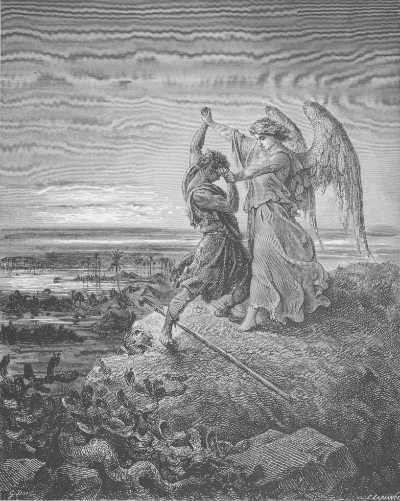 Gustave Dor 233 Jacob Wrestling With The Angel
