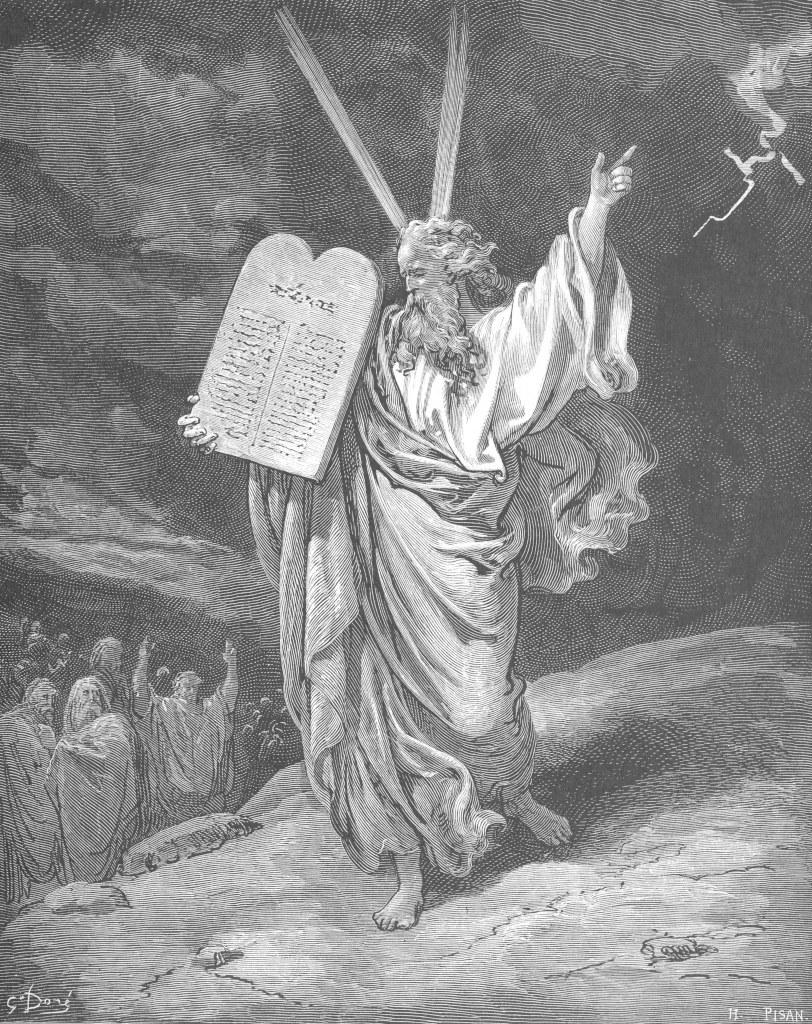 Moses Showing the Ten Commandments