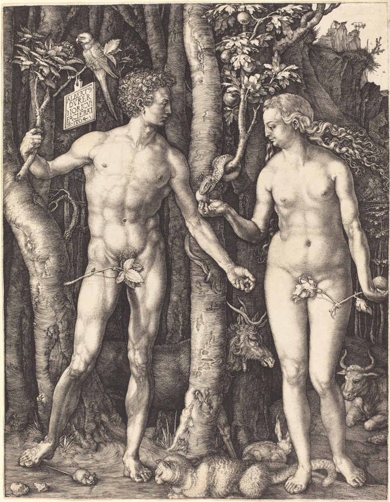 Adam And Eve Apple Painting