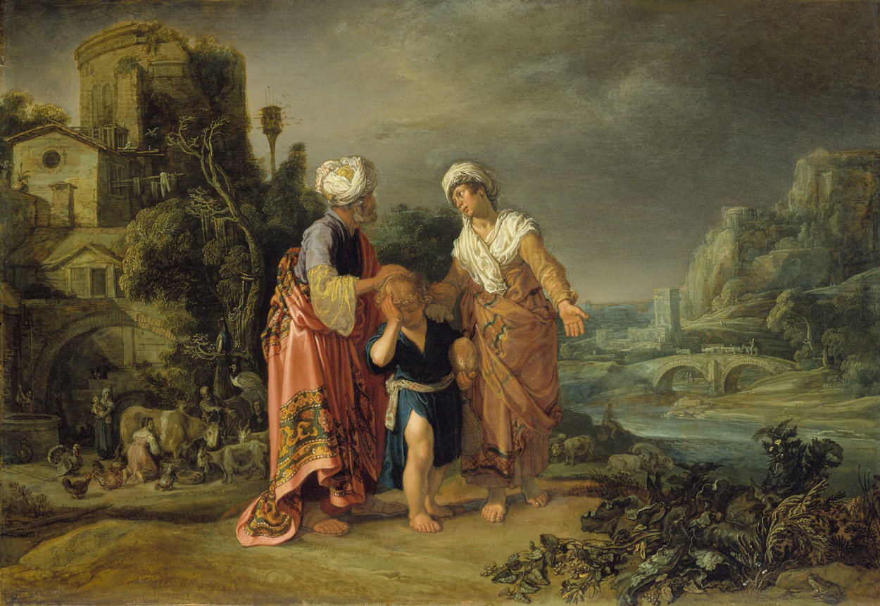 pieter lastman abraham casting out hagar and ishmael. Black Bedroom Furniture Sets. Home Design Ideas