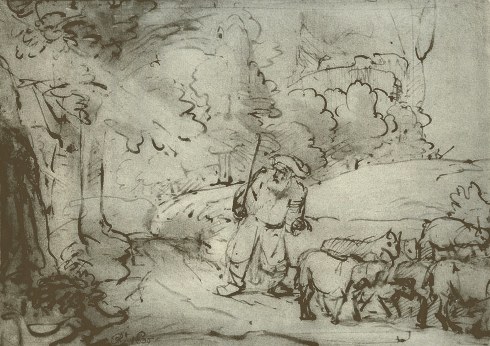 rembrandt harmensz van rijn moses at the burning bush