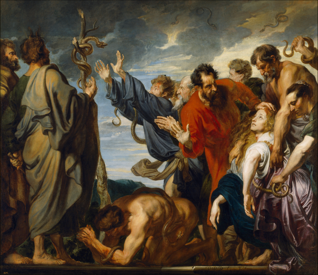 Anthony Van Dyck: Moses and the Brazen Serpent Moses Painting