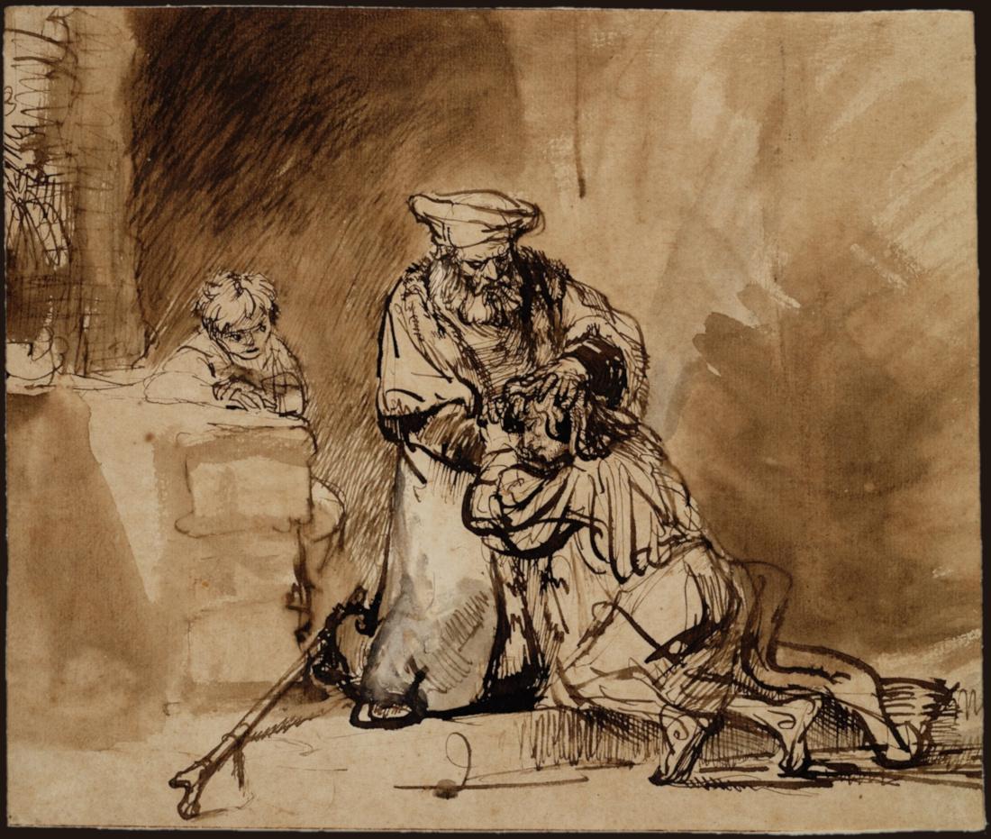 Rembrandt Harmensz Van Rijn The Return Of The Prodigal Son 1642