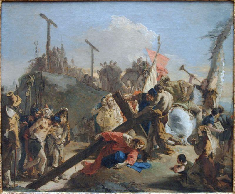 giovan battista tiepolo christ carrying the cross
