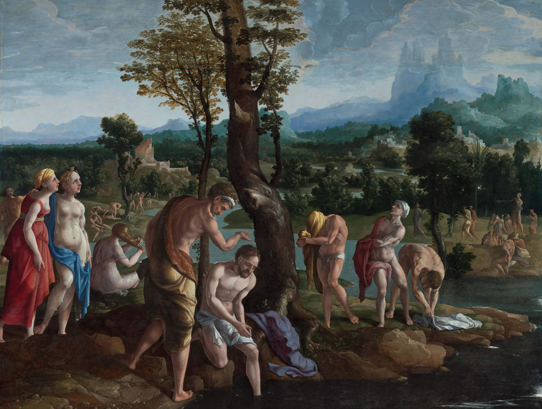 Jan Van Scorel The Baptism Of Christ