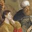 Pieter de Grebber: The laborer of Gibeah offering hospitality
