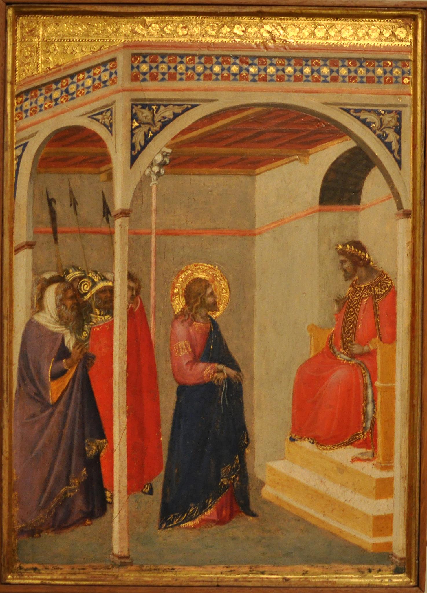 Pietro Lorenzetti: Christ before Pilate