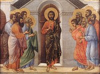 Duccio di Buoninsegna: Christ Appears to the Apostles Behind Closed Doors