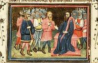Azor masters: Achior before Holofernes