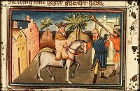 Azor masters: Mordecai is led through the city by Haman
