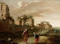 Bartholomeus Breenbergh: Elijah and the Widow of Zarephath