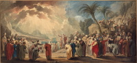 Jacob de Wit: Moses chooses seventy elders (1739)