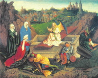 Hubert van Eyck: The Three Marys at the Tomb