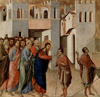 Duccio di Buoninsegna: The Healing of a Blind Man