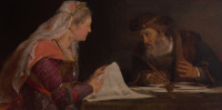 Esther and Mordecai Writing the Second Letter of Purim