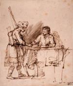 Rembrandt Harmensz. van Rijn: Esau Sells his Birhtright to Jacob