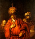 Rembrandt Harmensz. van Rijn: Haman Prepares to Honour Mordecai