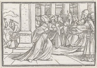 Hans Holbein the Younger: Athaliah tears her cloths