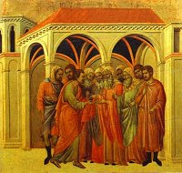 Duccio di Buoninsegna: Judas Betrays Christ