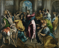 El Greco: Scourging the Moneychangers from the Temple