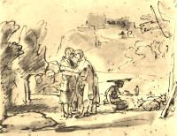 Rembrandt Harmensz. van Rijn: Laban Greets Jacob