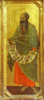 Duccio di Buoninsegna: The Prophet Malachi