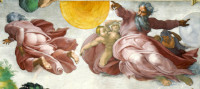 Michelangelo Buonarroti: The Creation of the Sun, the Moon and the Plants